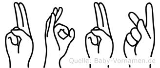 Ufuk in Fingersprache für Gehörlose