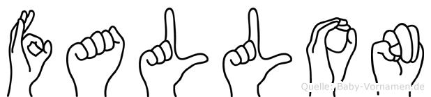 Fallon im Fingeralphabet der Deutschen Gebärdensprache