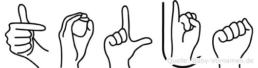 Tolja in Fingersprache für Gehörlose