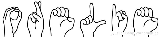 Orelie im Fingeralphabet der Deutschen Gebärdensprache