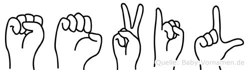 Sevil in Fingersprache für Gehörlose