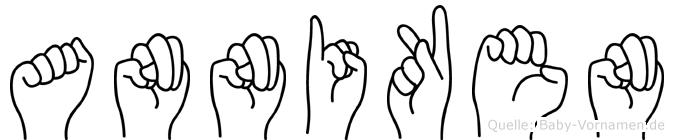 Anniken im Fingeralphabet der Deutschen Gebärdensprache
