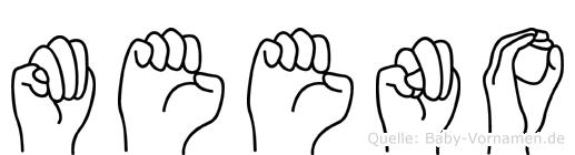 Meeno in Fingersprache für Gehörlose