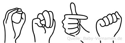 Onta in Fingersprache für Gehörlose
