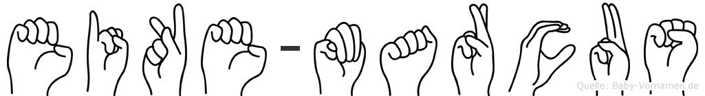 Eike-Marcus im Fingeralphabet der Deutschen Gebärdensprache