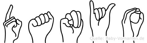 Danyo im Fingeralphabet der Deutschen Gebärdensprache