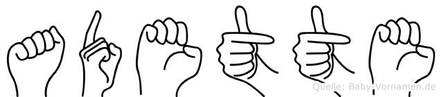 Adette in Fingersprache für Gehörlose