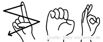 Zef in Fingersprache für Gehörlose