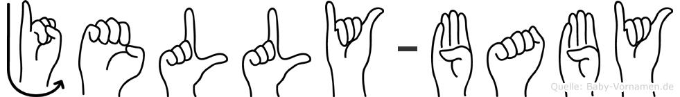 Jelly-Baby im Fingeralphabet der Deutschen Gebärdensprache