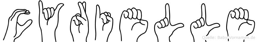 Cyrielle im Fingeralphabet der Deutschen Gebärdensprache