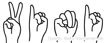 Vini im Fingeralphabet der Deutschen Gebärdensprache