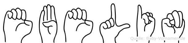 Ebelin im Fingeralphabet der Deutschen Gebärdensprache