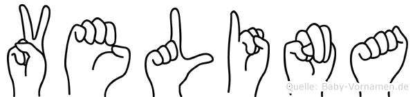 Velina in Fingersprache für Gehörlose