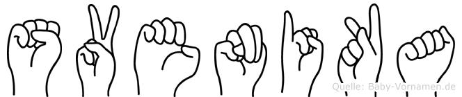 Svenika in Fingersprache für Gehörlose