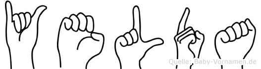 Yelda in Fingersprache für Gehörlose