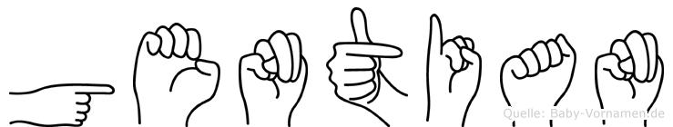 Gentian in Fingersprache für Gehörlose