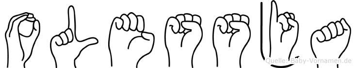 Olessja in Fingersprache für Gehörlose