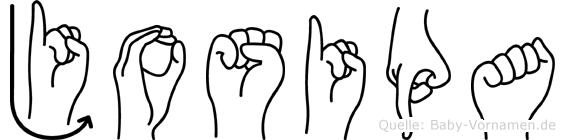 Josipa im Fingeralphabet der Deutschen Gebärdensprache