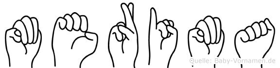 Merima in Fingersprache für Gehörlose