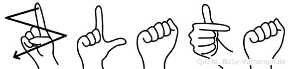 Zlata in Fingersprache für Gehörlose