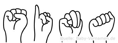 Sina in Fingersprache für Gehörlose