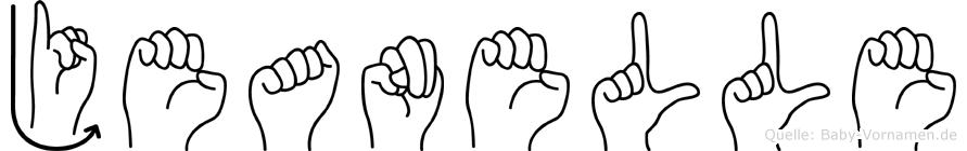 Jeanelle im Fingeralphabet der Deutschen Gebärdensprache