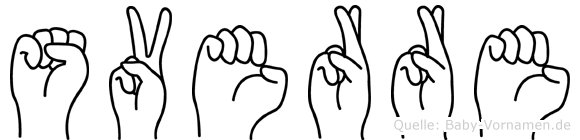 Sverre im Fingeralphabet der Deutschen Gebärdensprache