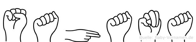 Sahana in Fingersprache für Gehörlose