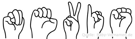 Nevis in Fingersprache für Gehörlose