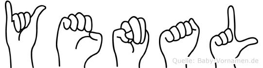 Yenal im Fingeralphabet der Deutschen Gebärdensprache