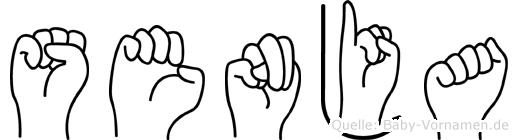 Senja in Fingersprache für Gehörlose