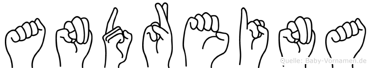 Andreina im Fingeralphabet der Deutschen Gebärdensprache