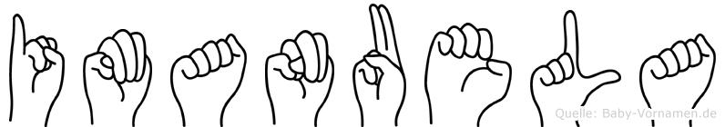 Imanuela im Fingeralphabet der Deutschen Gebärdensprache