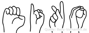 Eiko im Fingeralphabet der Deutschen Gebärdensprache