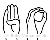 Bo in Fingersprache für Gehörlose
