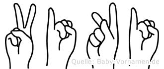 Viki im Fingeralphabet der Deutschen Gebärdensprache