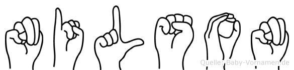 Nilson im Fingeralphabet der Deutschen Gebärdensprache
