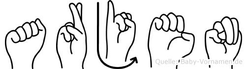 Arjen in Fingersprache für Gehörlose