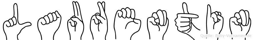 Laurentin im Fingeralphabet der Deutschen Gebärdensprache