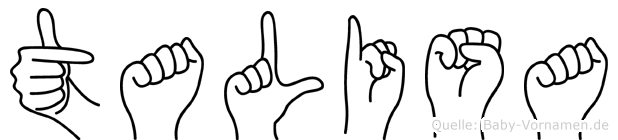 Talisa im Fingeralphabet der Deutschen Gebärdensprache