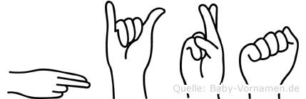 Hyra in Fingersprache für Gehörlose