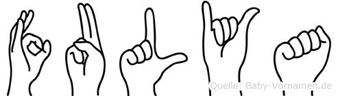 Fulya im Fingeralphabet der Deutschen Gebärdensprache