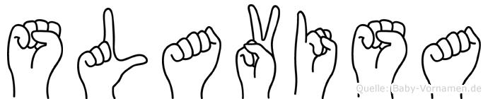 Slavisa im Fingeralphabet der Deutschen Gebärdensprache