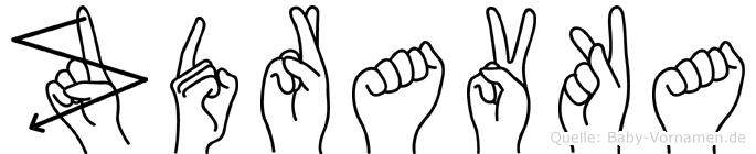 Zdravka im Fingeralphabet der Deutschen Gebärdensprache