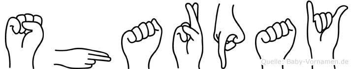 Sharpay in Fingersprache für Gehörlose