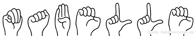 Mabelle in Fingersprache für Gehörlose