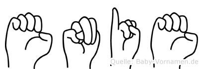 Enie in Fingersprache für Gehörlose