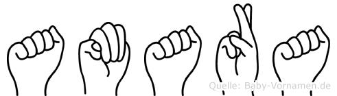 Amara in Fingersprache für Gehörlose
