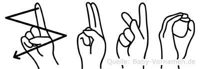 Zuko in Fingersprache für Gehörlose