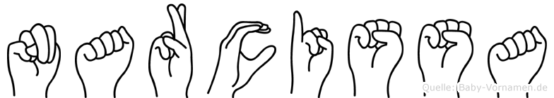 Narcissa in Fingersprache für Gehörlose